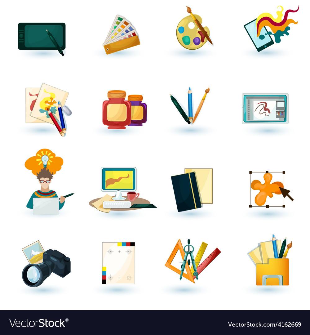 Designer icons set vector | Price: 3 Credit (USD $3)