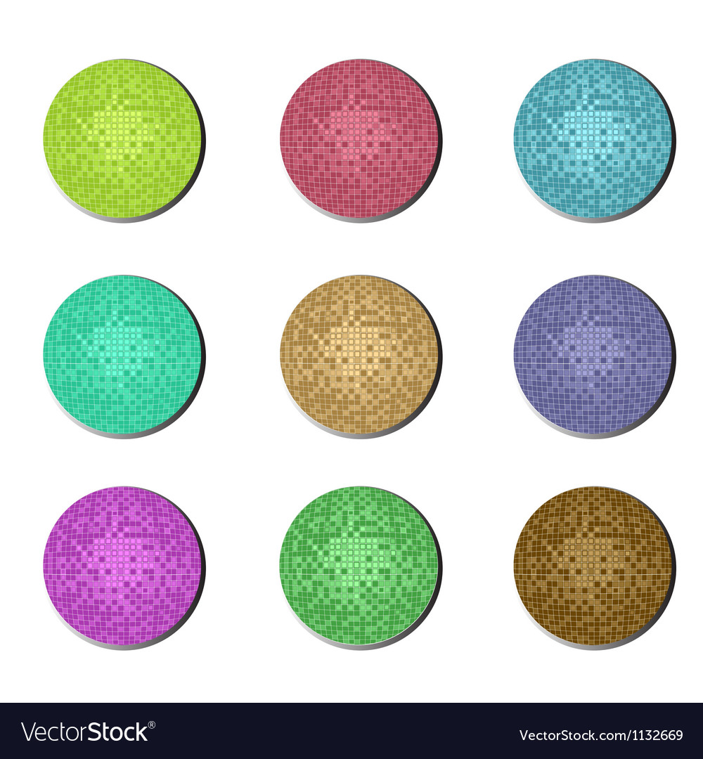 Disco ball buttons vector | Price: 1 Credit (USD $1)