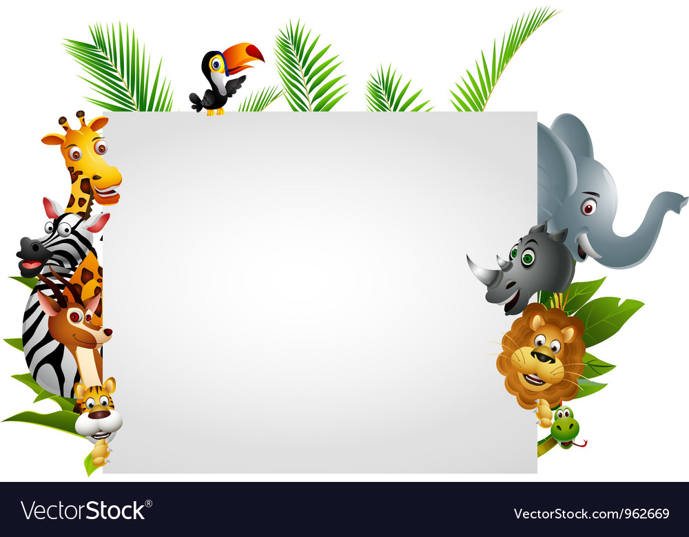 Funny wild african animal cartoon vector | Price: 3 Credit (USD $3)