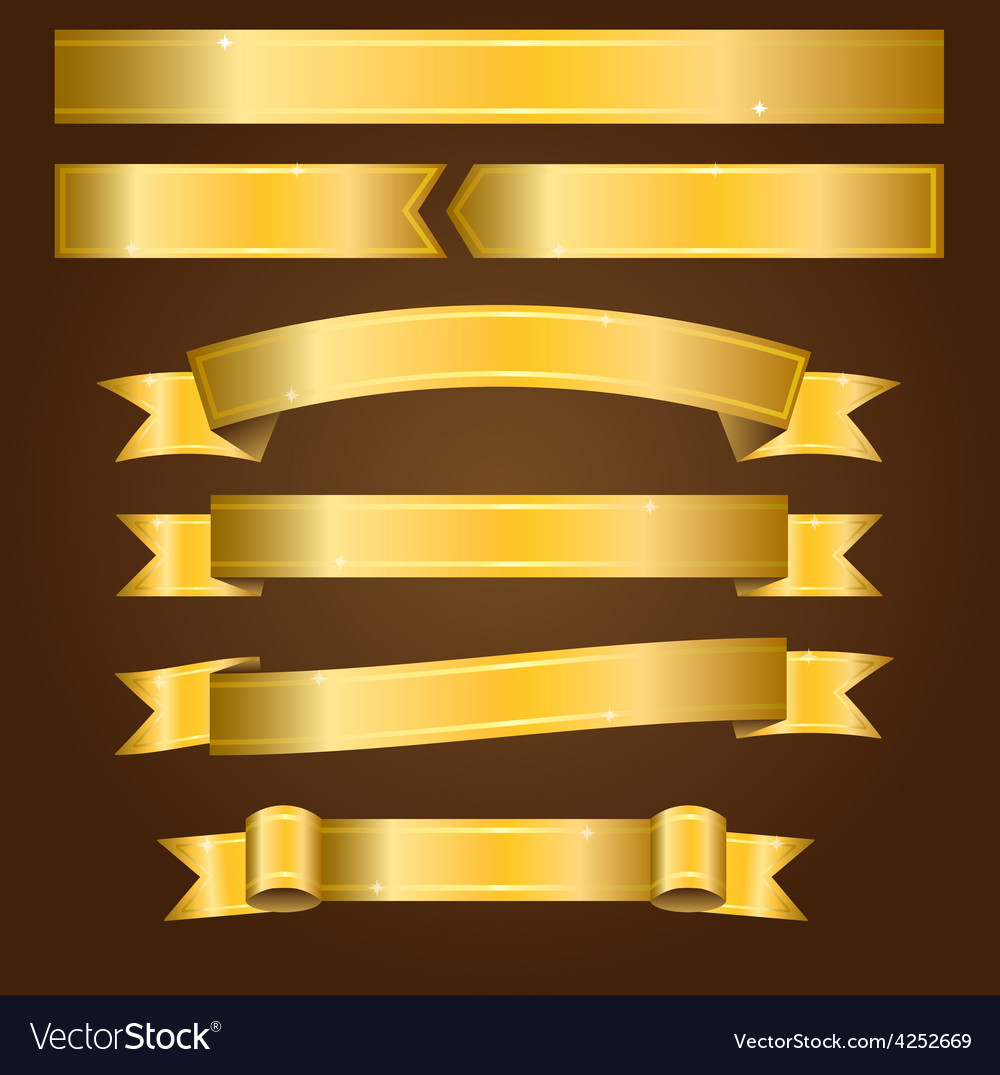 Gold banners vector | Price: 3 Credit (USD $3)