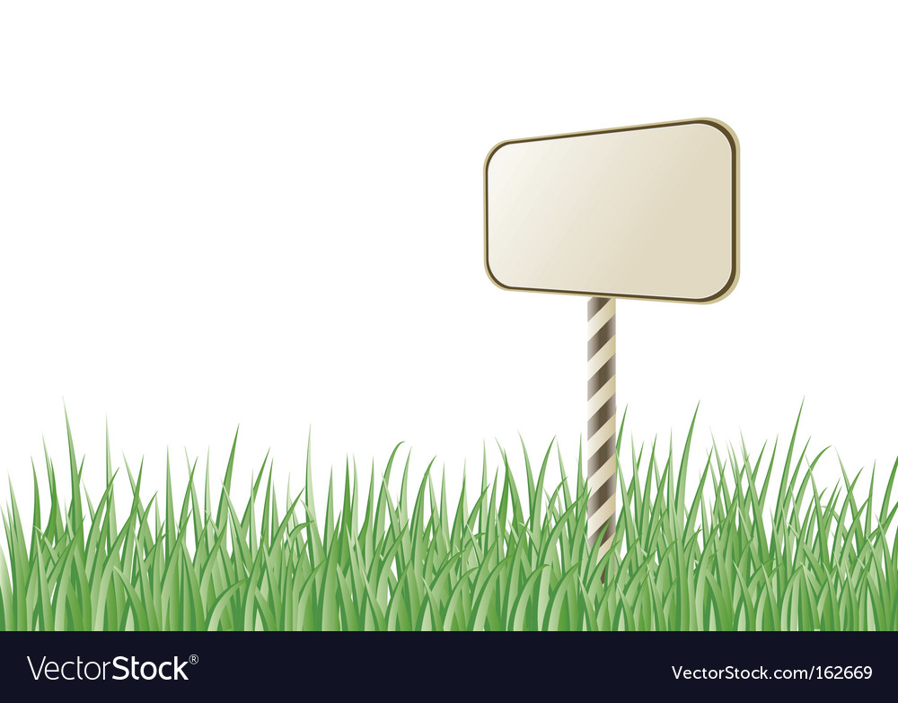 Grass sign vector | Price: 1 Credit (USD $1)