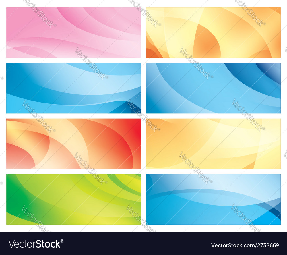Horizontal abstract colorful backgrounds vector | Price: 1 Credit (USD $1)