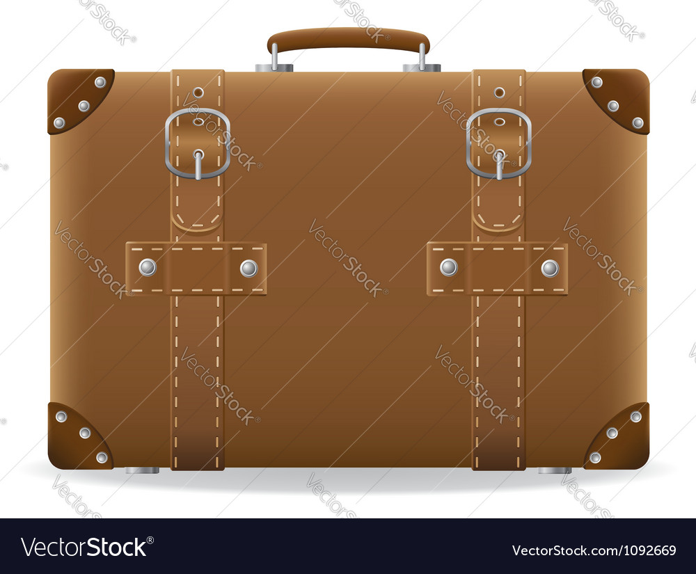 Old suitcase for travel 01 vector | Price: 1 Credit (USD $1)