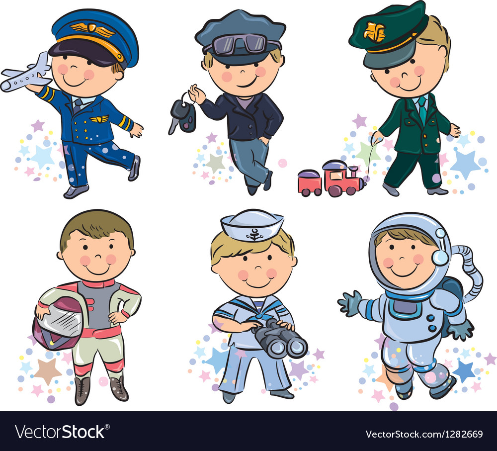 Professions kids set 1 vector | Price: 3 Credit (USD $3)