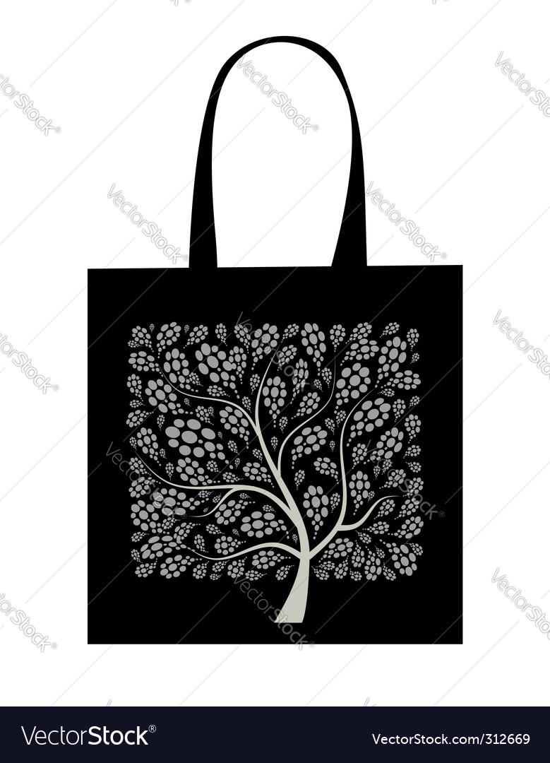 Shopping bag design art tree vector   Price: 1 Credit (USD $1)