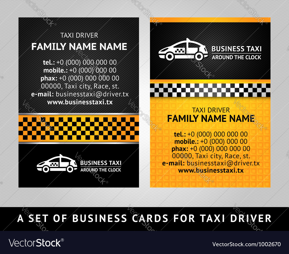 Business card - taxi vector | Price: 1 Credit (USD $1)