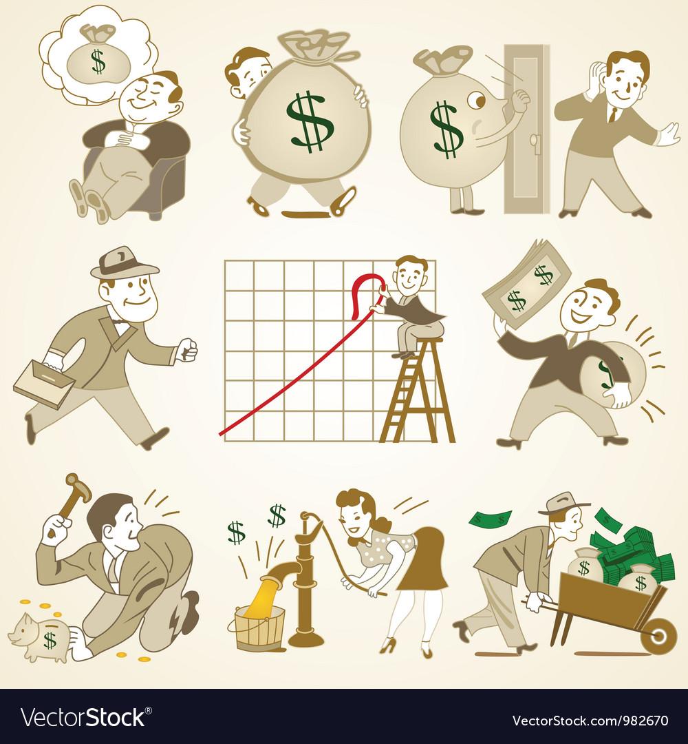 Business people cartoon vector | Price: 3 Credit (USD $3)