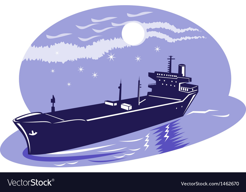 Container cargo ship vector | Price: 1 Credit (USD $1)