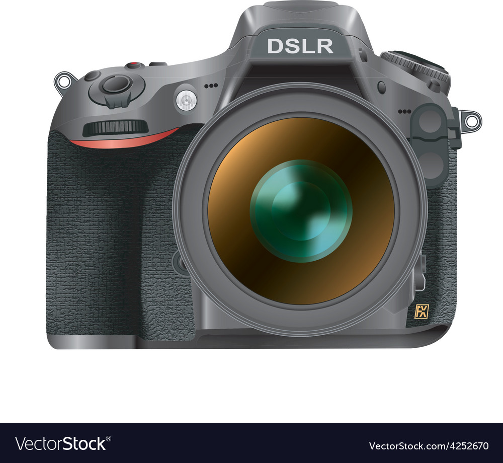 Dslr camera vector | Price: 3 Credit (USD $3)