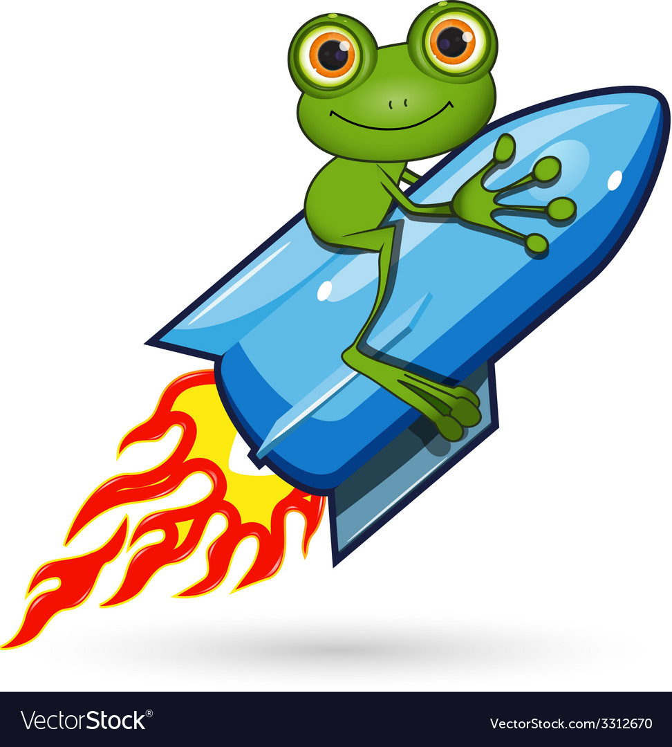 Frog on a rocket vector | Price: 3 Credit (USD $3)