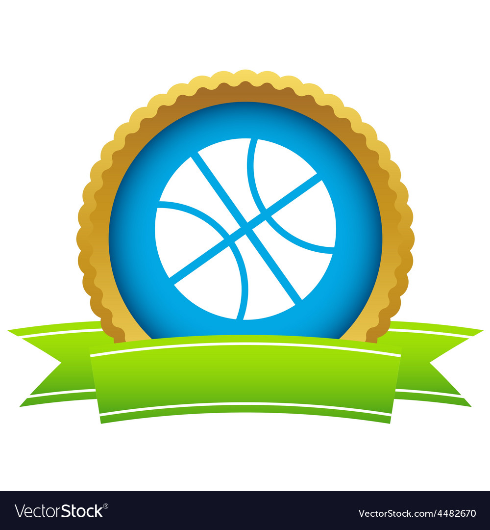 Gold basketball logo vector | Price: 1 Credit (USD $1)
