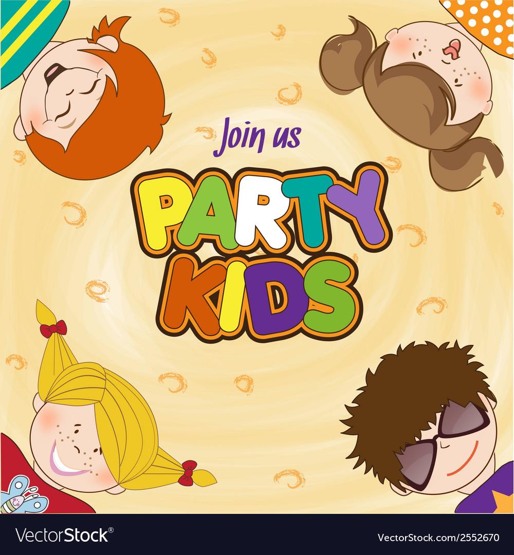 Kids celebrating birthday party vector | Price: 1 Credit (USD $1)
