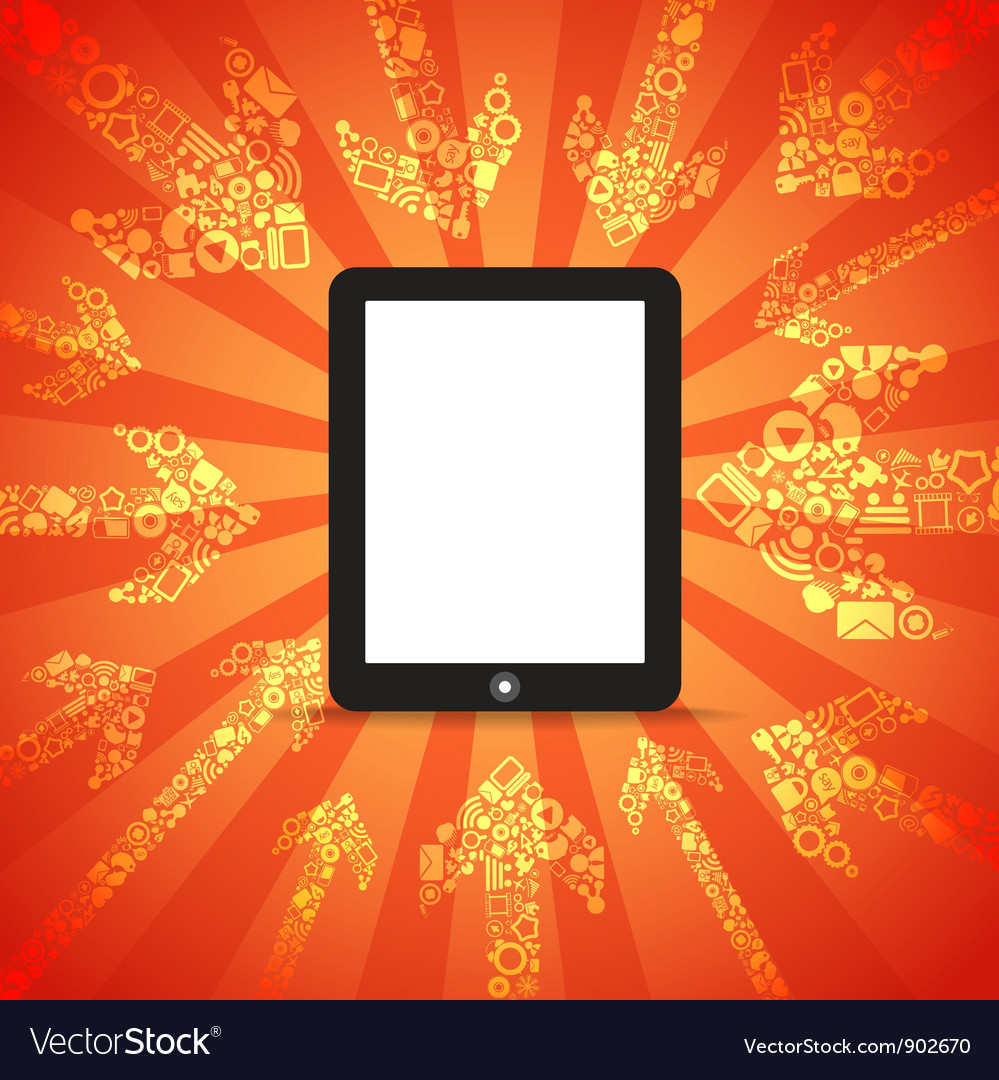 Modern mobile computer vector | Price: 1 Credit (USD $1)
