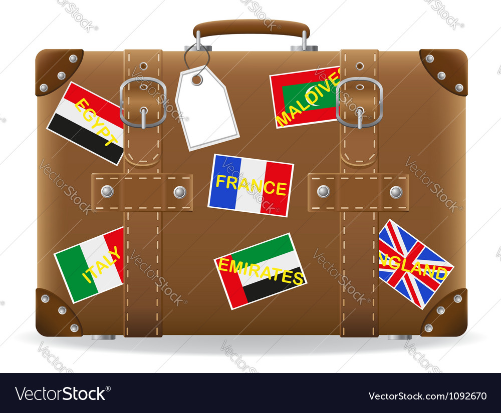 Old suitcase for travel 02 vector | Price: 3 Credit (USD $3)