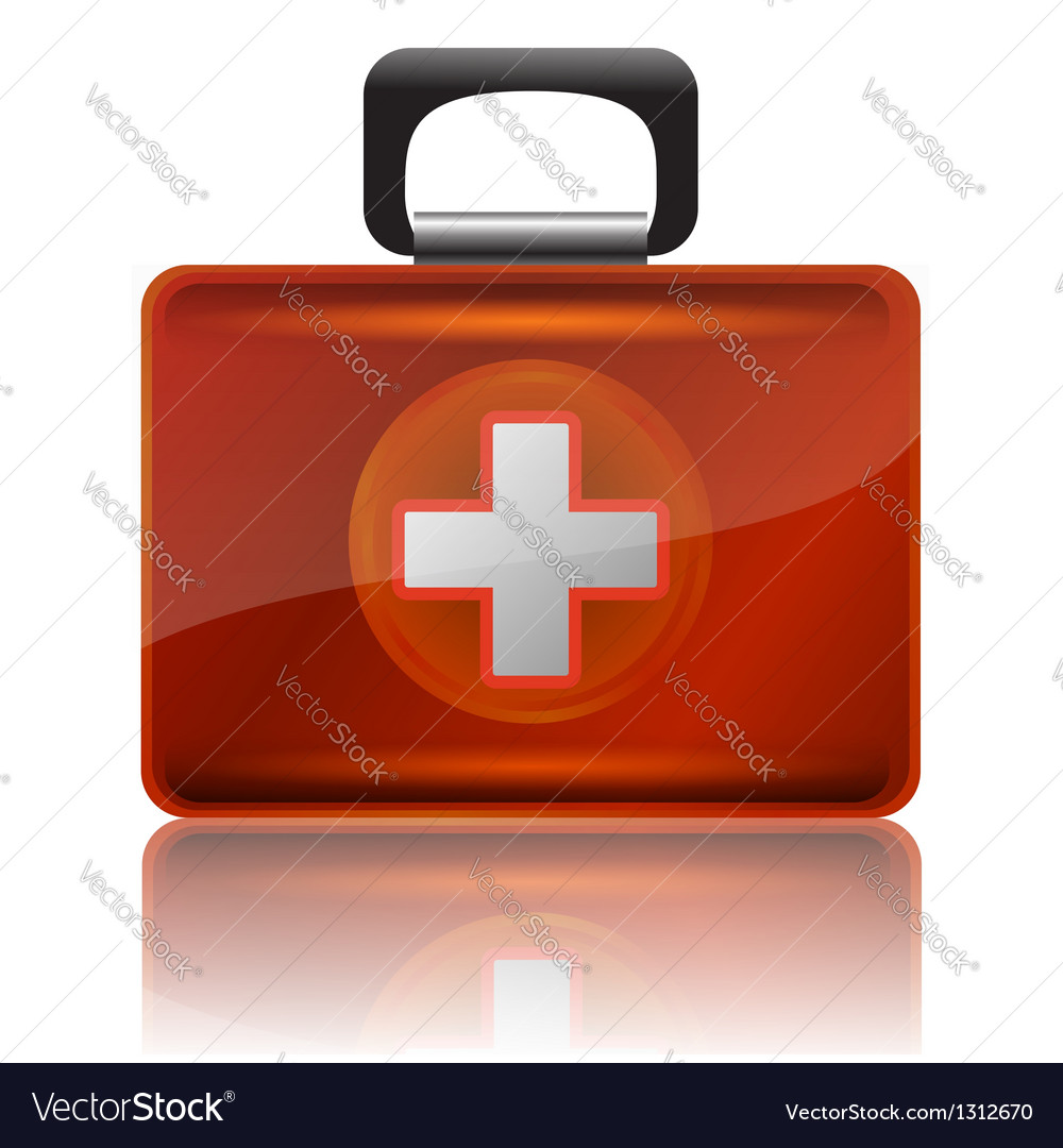 Red first aid case vector | Price: 1 Credit (USD $1)