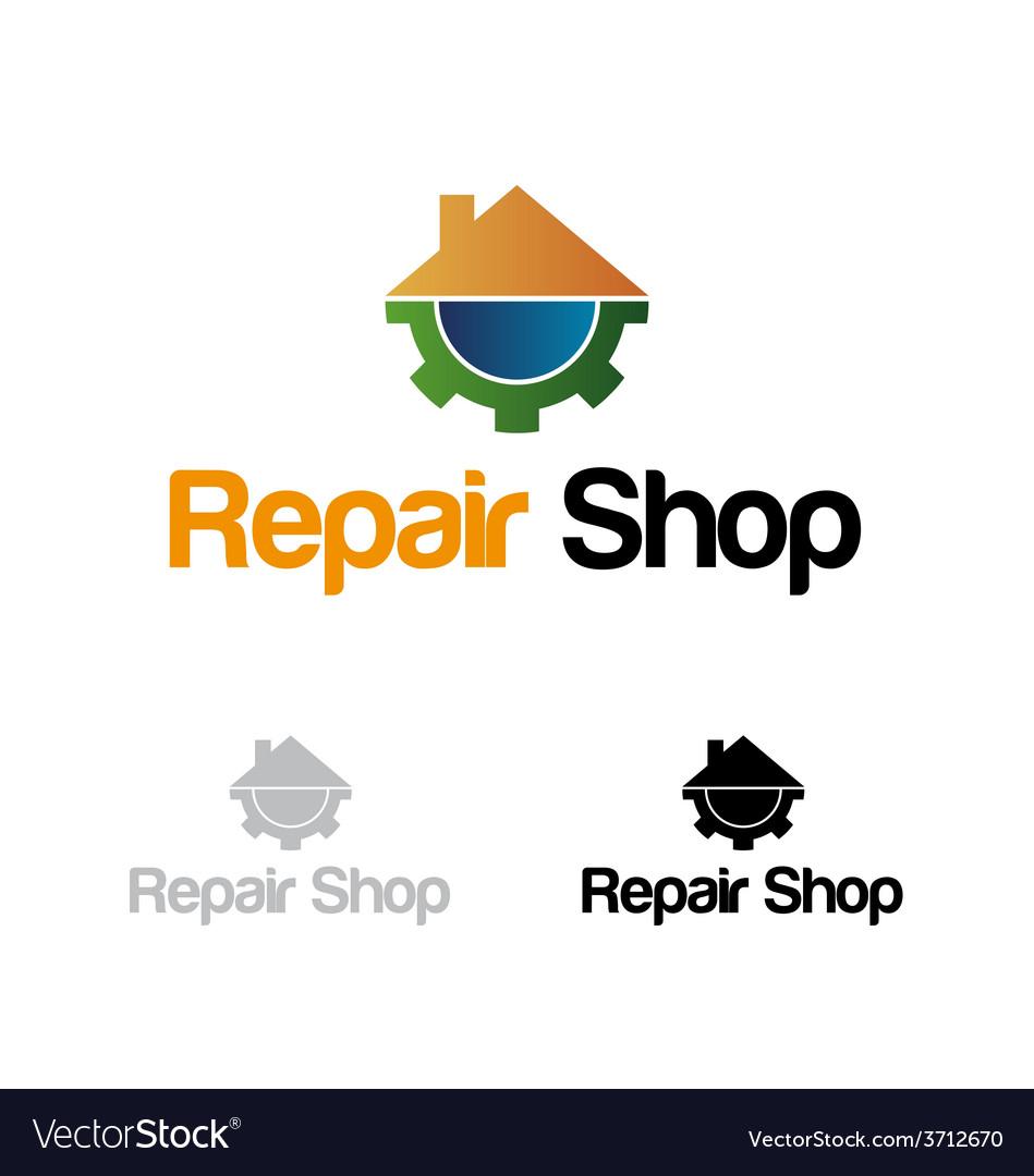 Repair shop logo vector