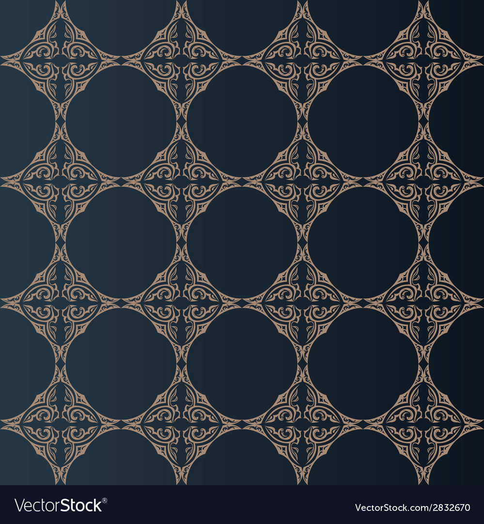 Seamless baroque background in vintage style vector | Price: 1 Credit (USD $1)