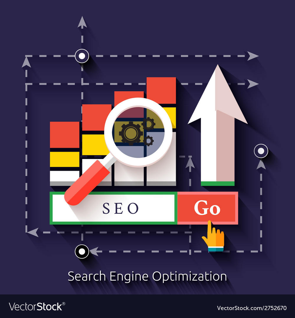 Seo search engine optimization programming process vector | Price: 1 Credit (USD $1)