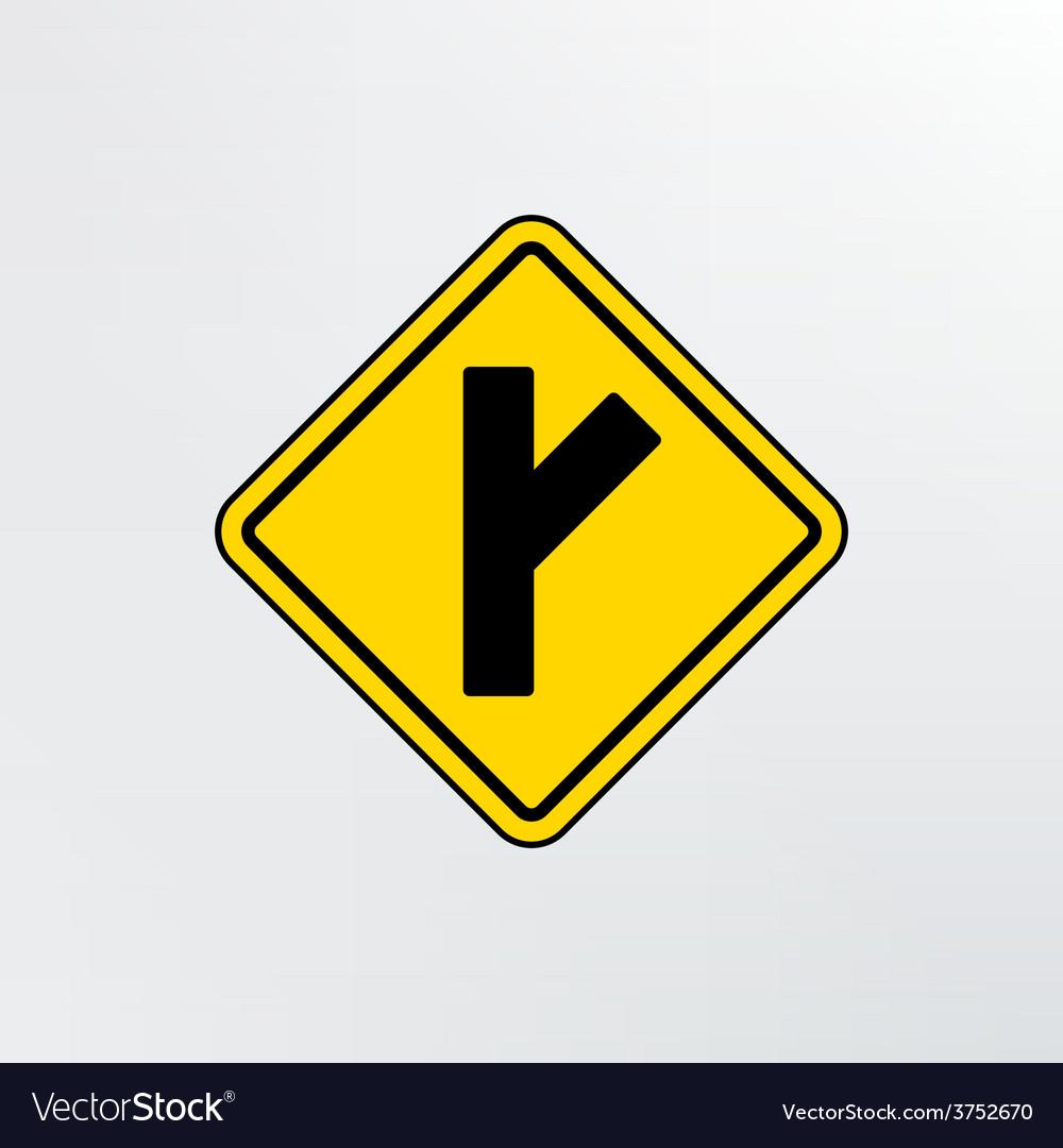 Side road diagonal icon vector | Price: 1 Credit (USD $1)