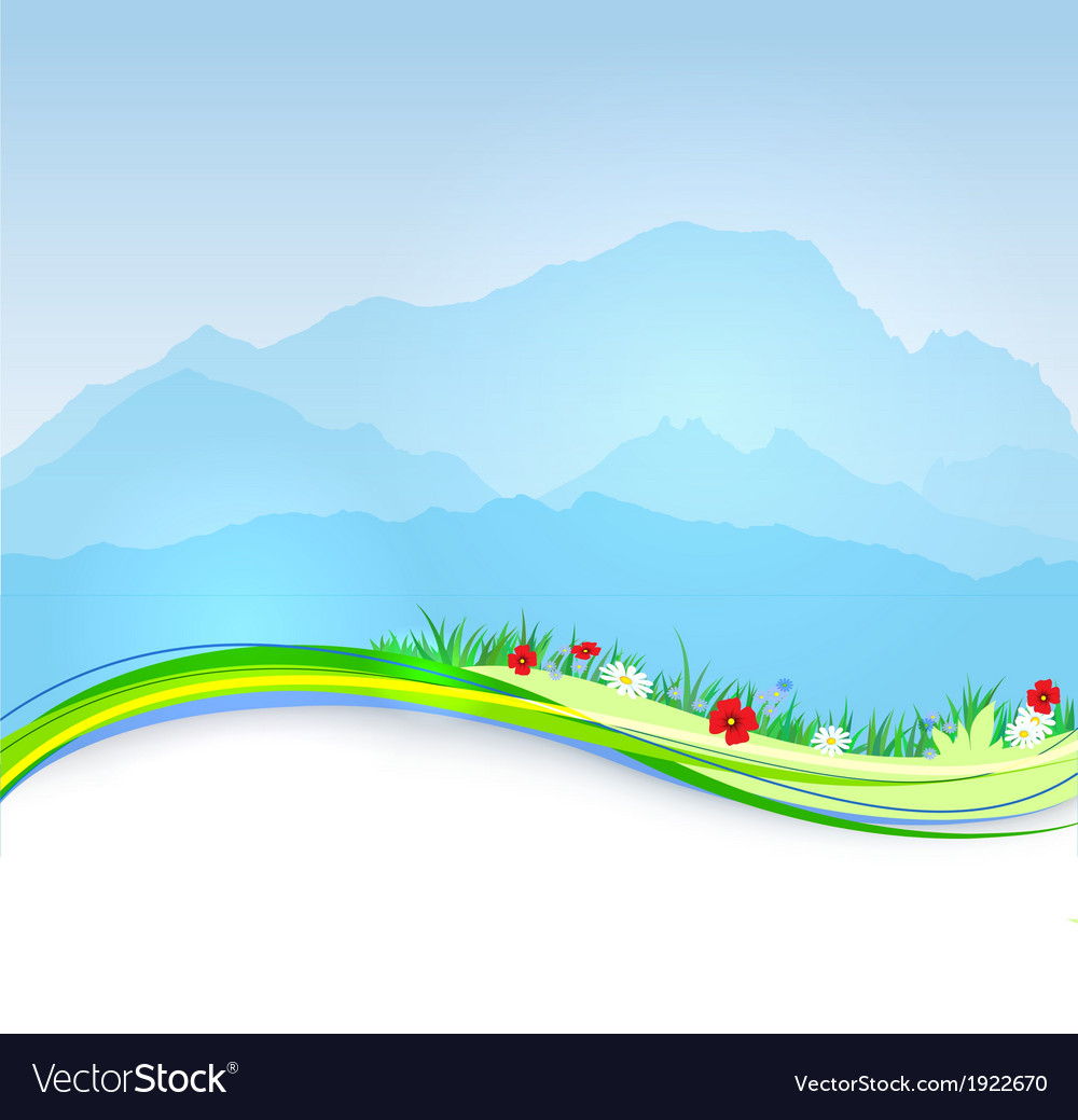 Spring mont blanc background vector | Price: 1 Credit (USD $1)