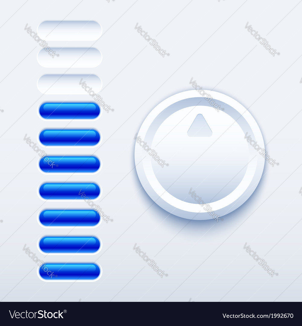 Volume control vector | Price: 1 Credit (USD $1)