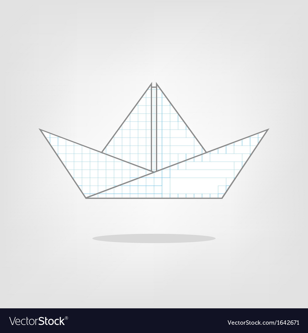 A paper boat on a background vector | Price: 1 Credit (USD $1)