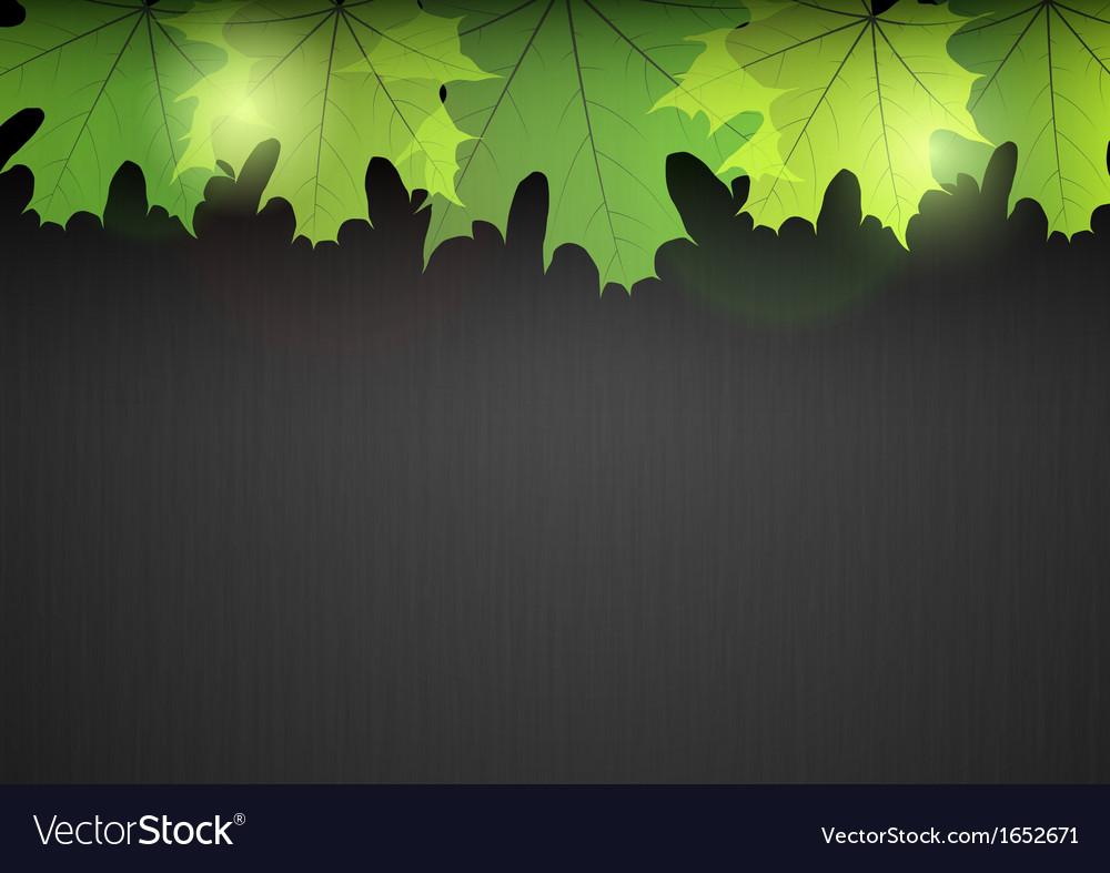 Background autumn dark leaf green vector | Price: 1 Credit (USD $1)