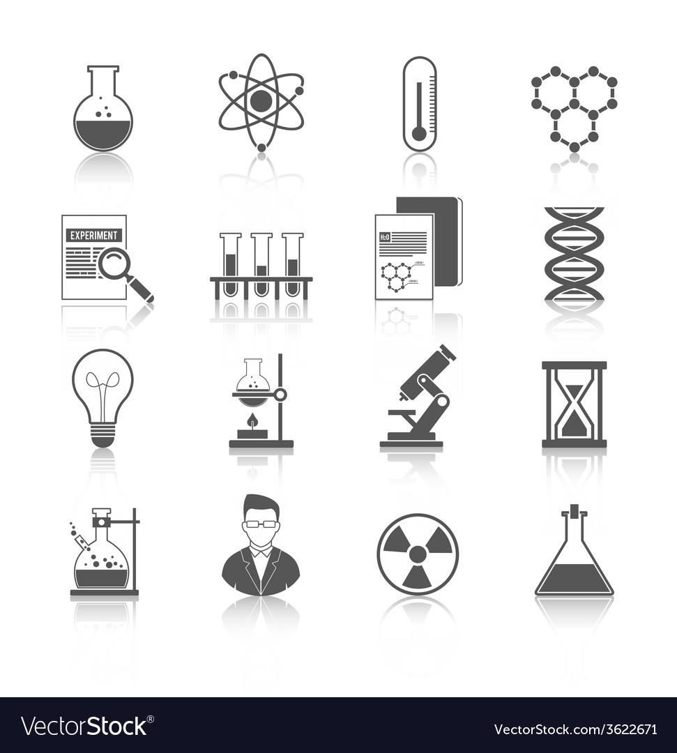 Chemistry icons black vector | Price: 1 Credit (USD $1)