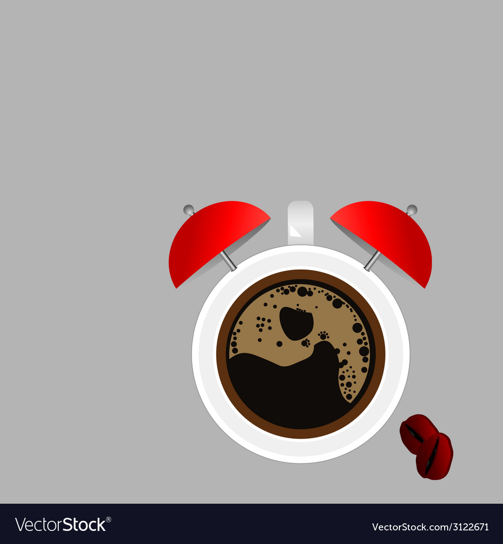 Clock and coffee part four vector | Price: 1 Credit (USD $1)