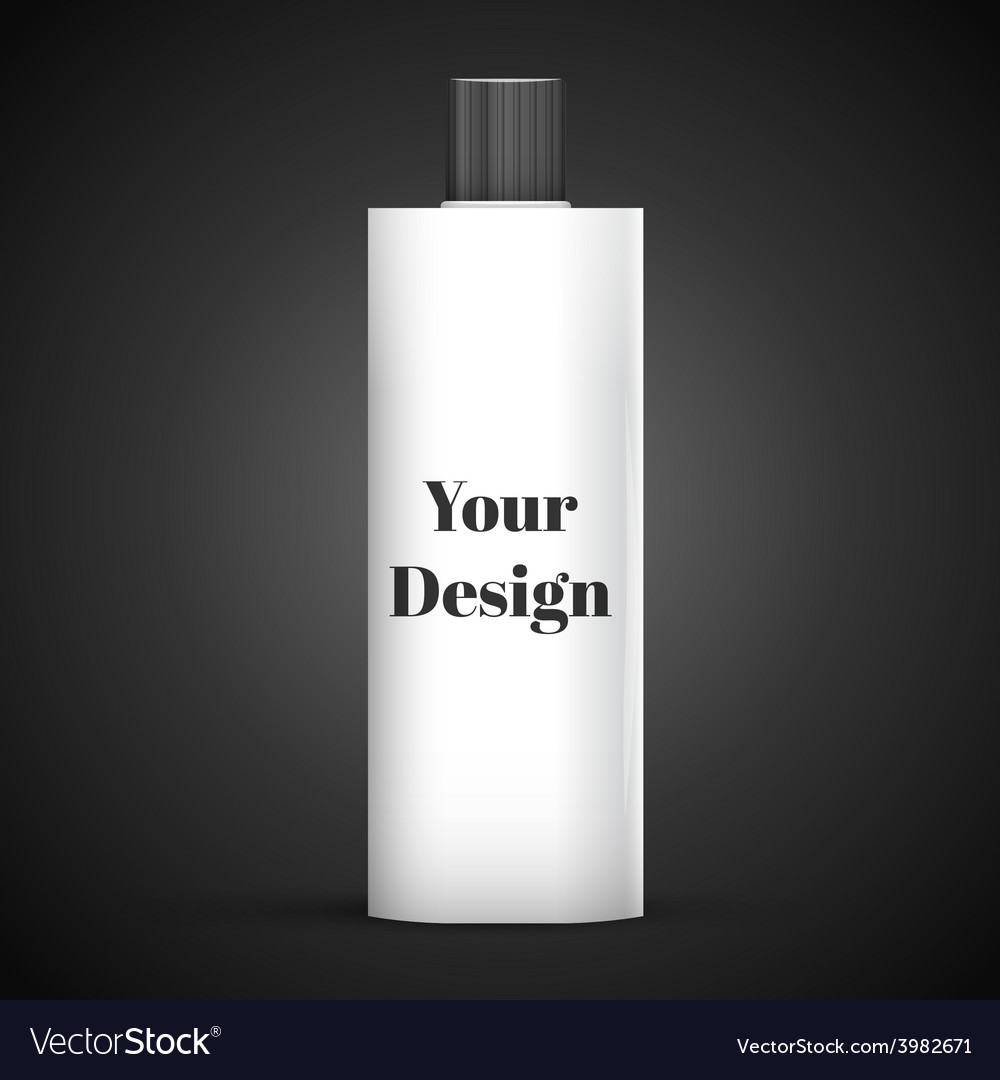 Cosmetic or hygiene grayscale white gray chrome vector | Price: 1 Credit (USD $1)