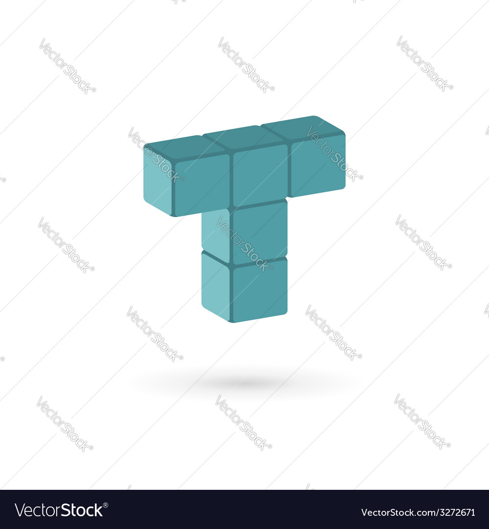Letter t cube logo icon design template elements vector | Price: 1 Credit (USD $1)