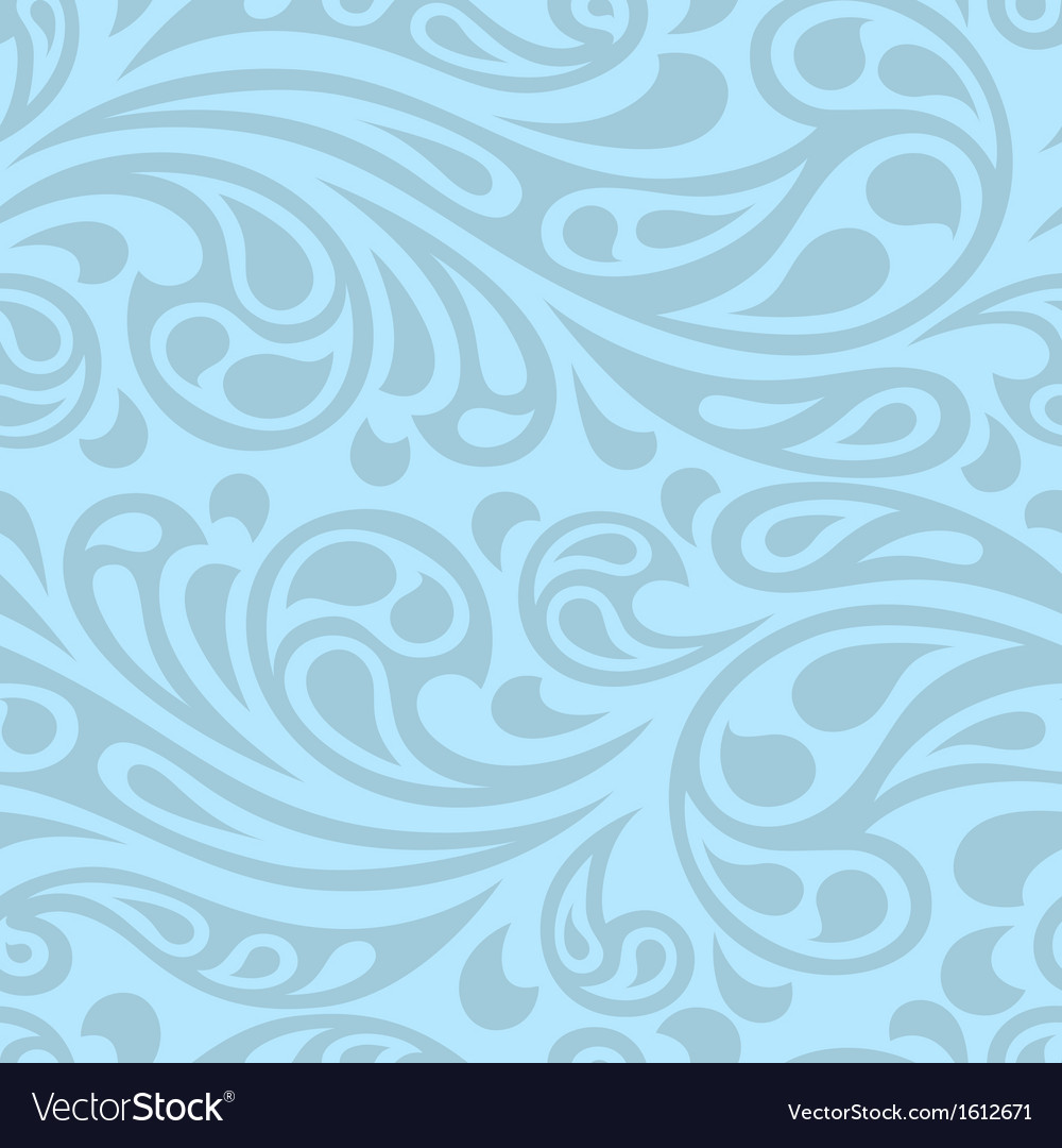 Water splash seamless waves abstract pattern vector | Price: 1 Credit (USD $1)