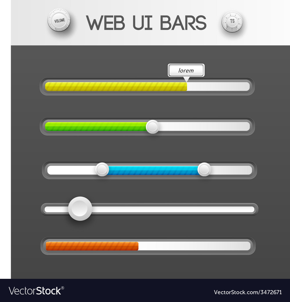 Web interface ui elements vector | Price: 1 Credit (USD $1)