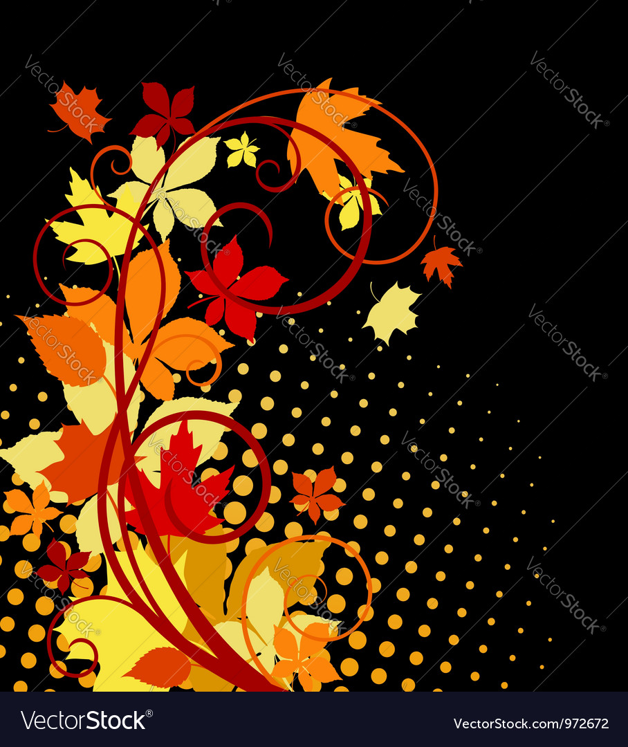 Autumnal leaves background vector | Price: 1 Credit (USD $1)