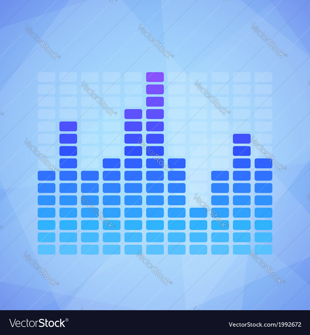 Blue equalizer vector | Price: 1 Credit (USD $1)
