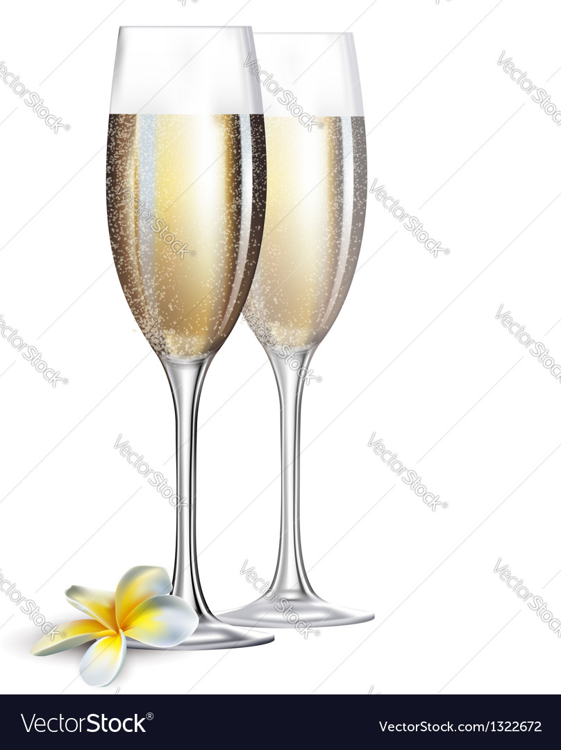 Champagne glasses vector | Price: 1 Credit (USD $1)