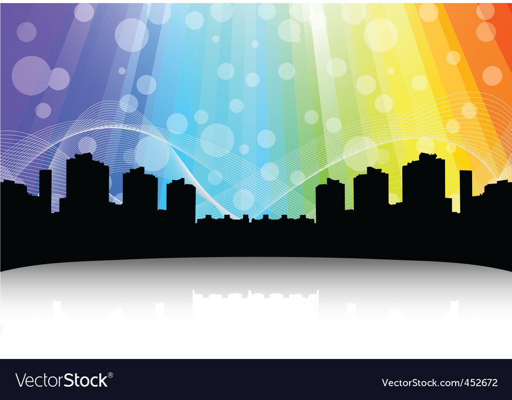 Cityscape design abstract background vector | Price: 1 Credit (USD $1)