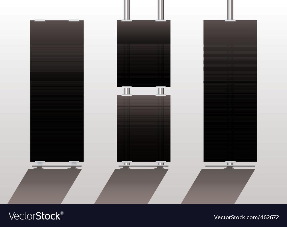 Display stands black vector | Price: 1 Credit (USD $1)