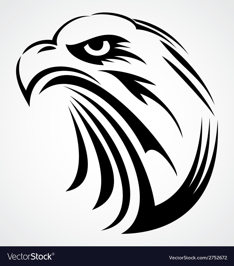 Eagle head tattoo design vector | Price: 1 Credit (USD $1)