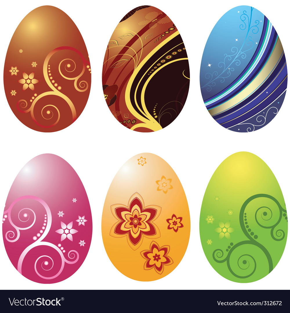 Easters eggs vector | Price: 1 Credit (USD $1)
