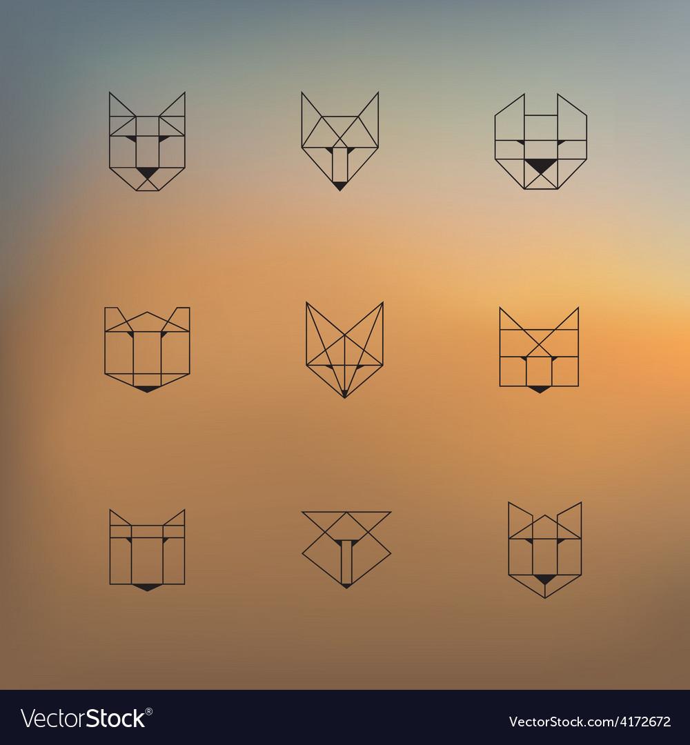 Geometric animals vector | Price: 1 Credit (USD $1)