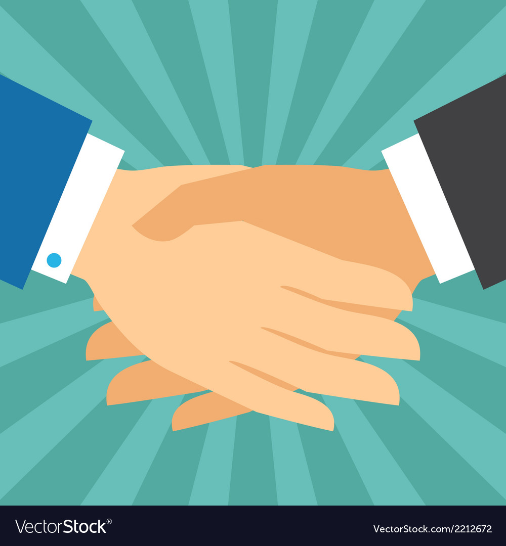 Handshake business concept in flat design style vector | Price: 1 Credit (USD $1)