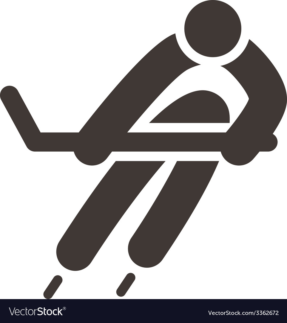 Hockey icon vector | Price: 1 Credit (USD $1)