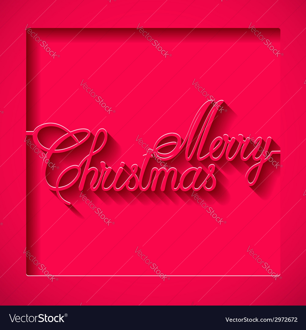 Inscription of the paper merry christmas vector | Price: 1 Credit (USD $1)