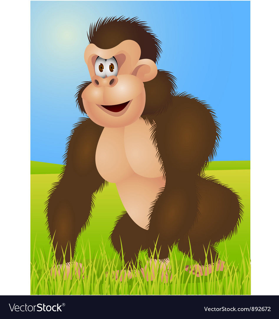 King kong cartoon vector | Price: 1 Credit (USD $1)