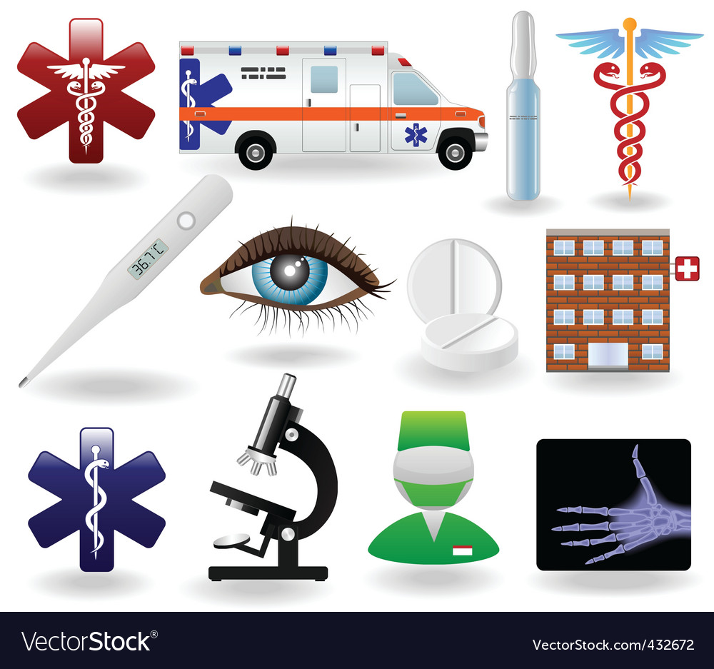 Medical icons and symbols set vector | Price: 1 Credit (USD $1)