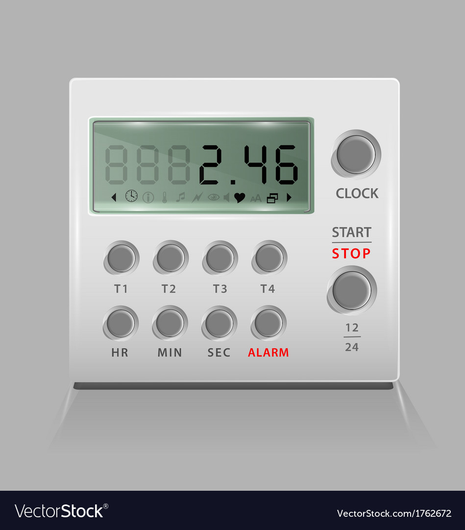 Portable digital timer vector | Price: 1 Credit (USD $1)
