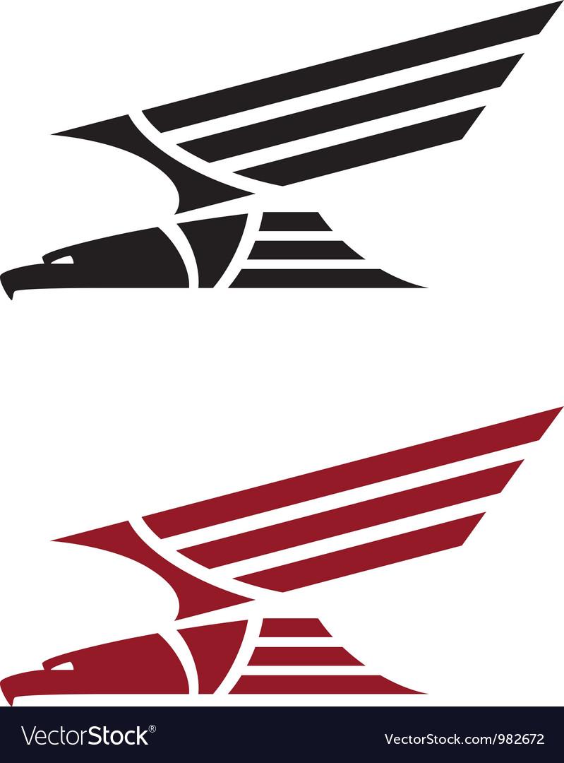 Predatory eagle for tattoo design vector | Price: 1 Credit (USD $1)