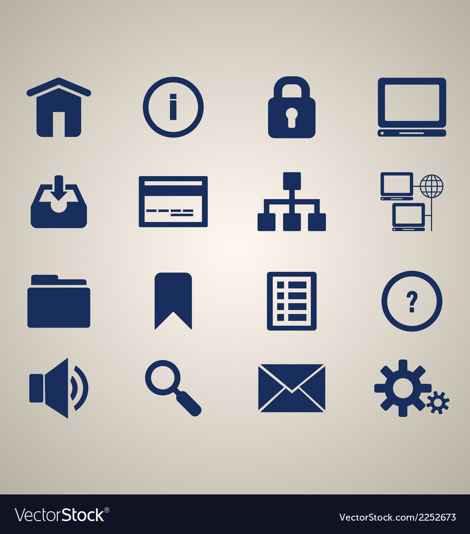 16 web icons vector