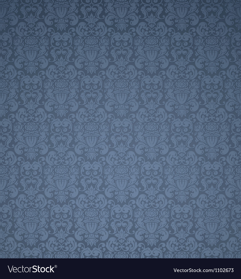 Blue seamless pattern vector | Price: 1 Credit (USD $1)